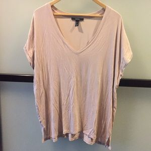 Forever21 V-neck tee in a light tan